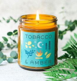 My Weekend Is Booked Tobacco & Amber Candle