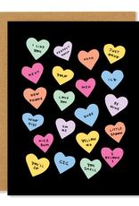 Badger & Burke Badger & Burke Candy Hearts Card