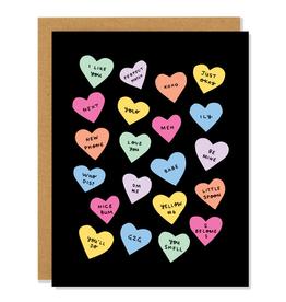 Badger & Burke Candy Hearts Card