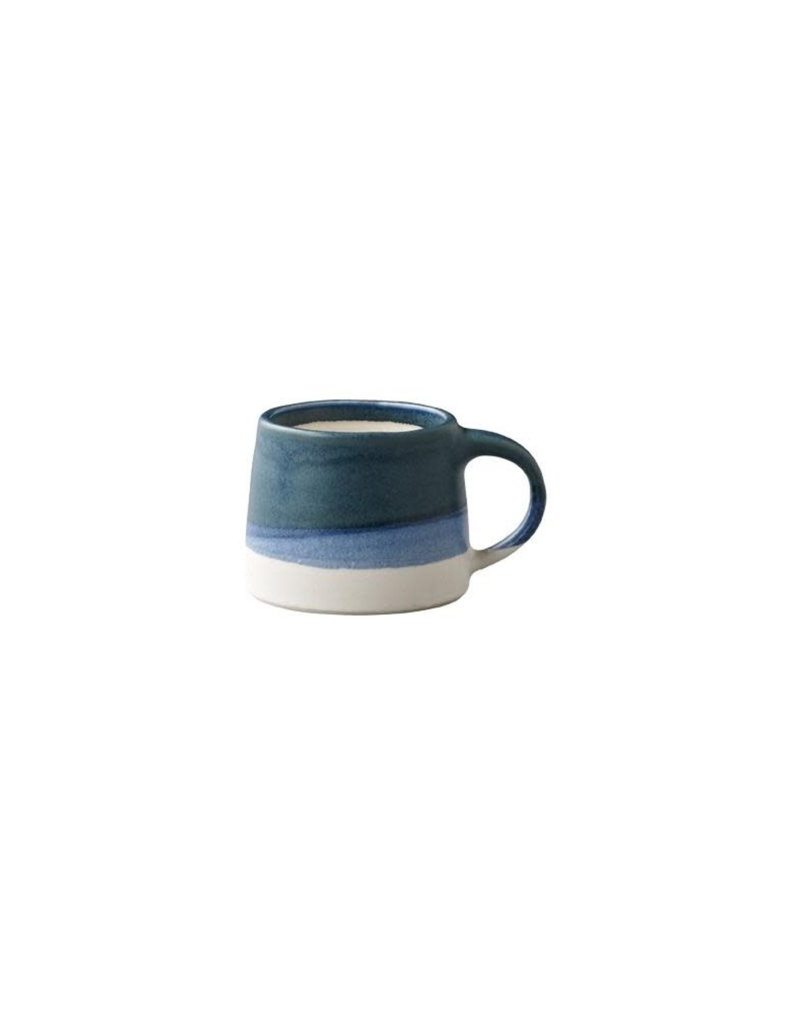 Kinto Slow Coffee Mug 110ml - Navy/White