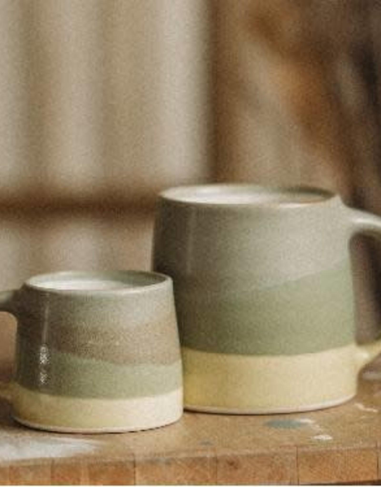 Kinto Slow Coffee Mug 110ml - Moss/ Yellow