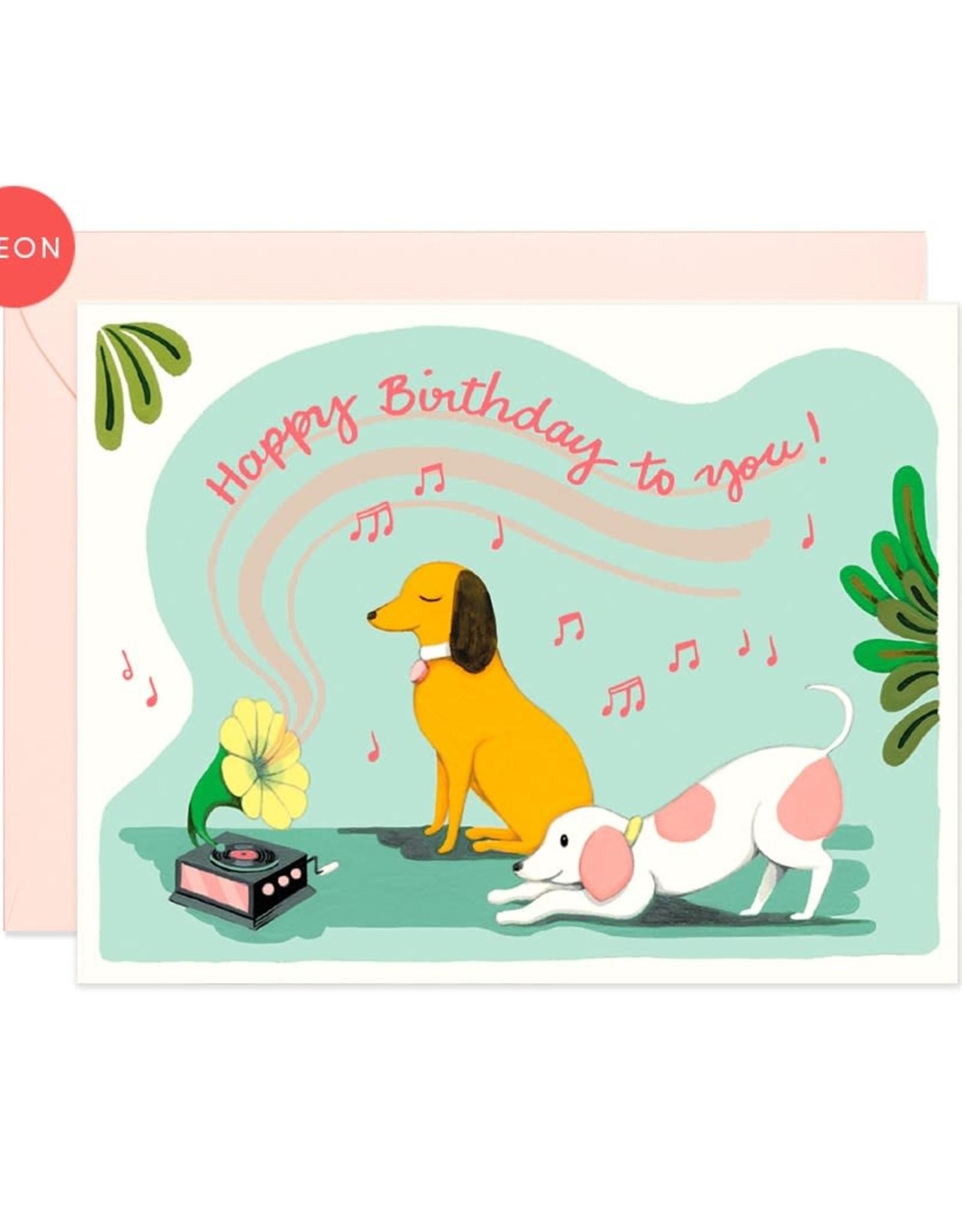 Paper E Clips Paper E Clips Gramophone Dogs Birthday Card