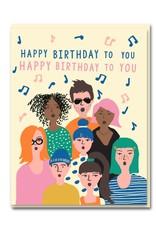 Paper E Clips Paper E Clips Choir Birthday Card