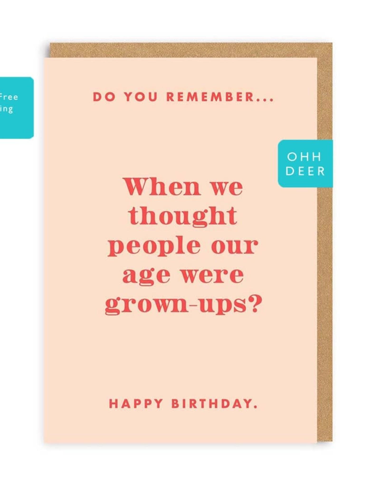 Paper E Clips Paper E Clips Grown Ups Birthday Card