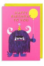 Paper E Clips Paper E Clips Happy Birthday Monster Card