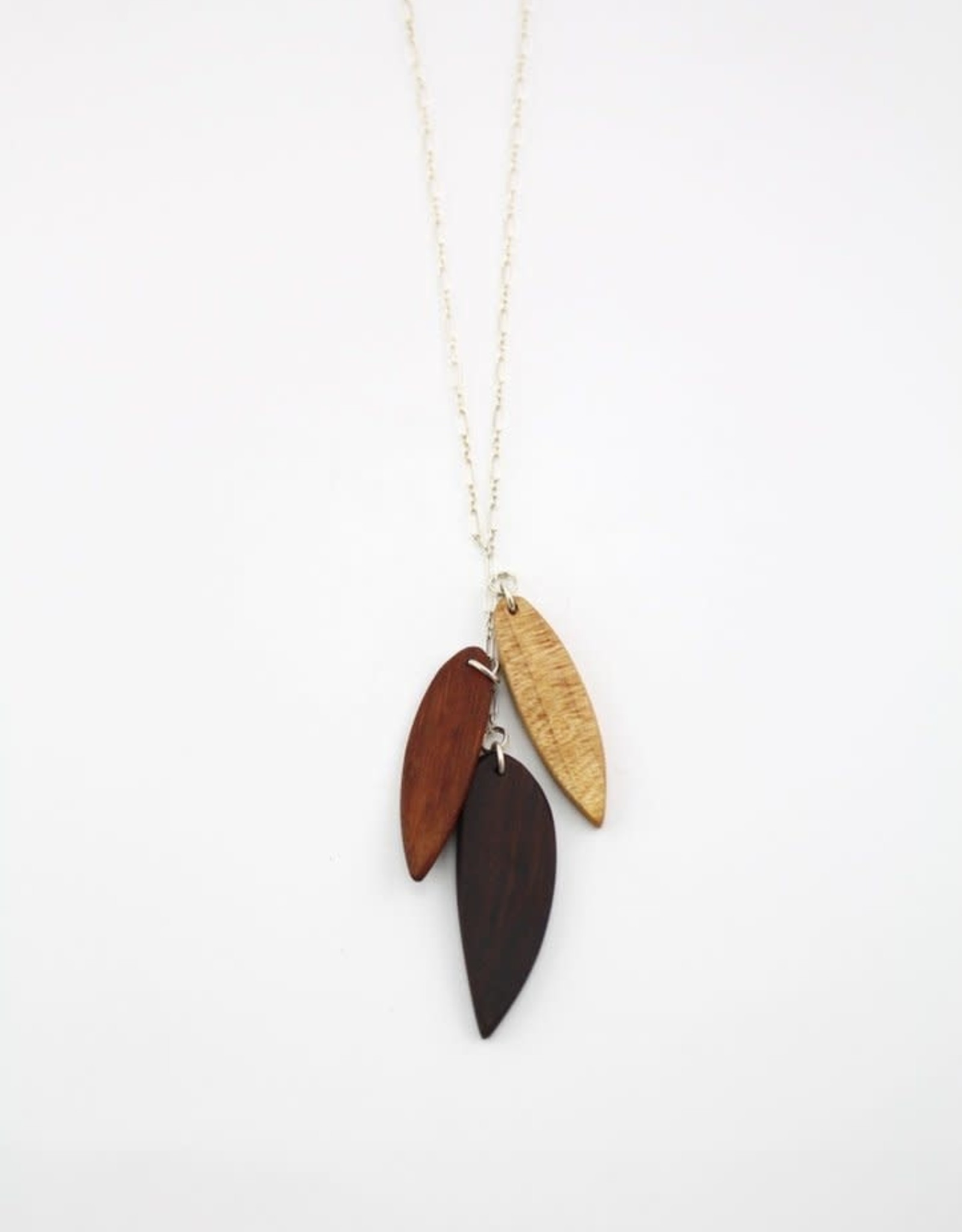 Billy Would Billy Would 3 Leaf Long Necklace