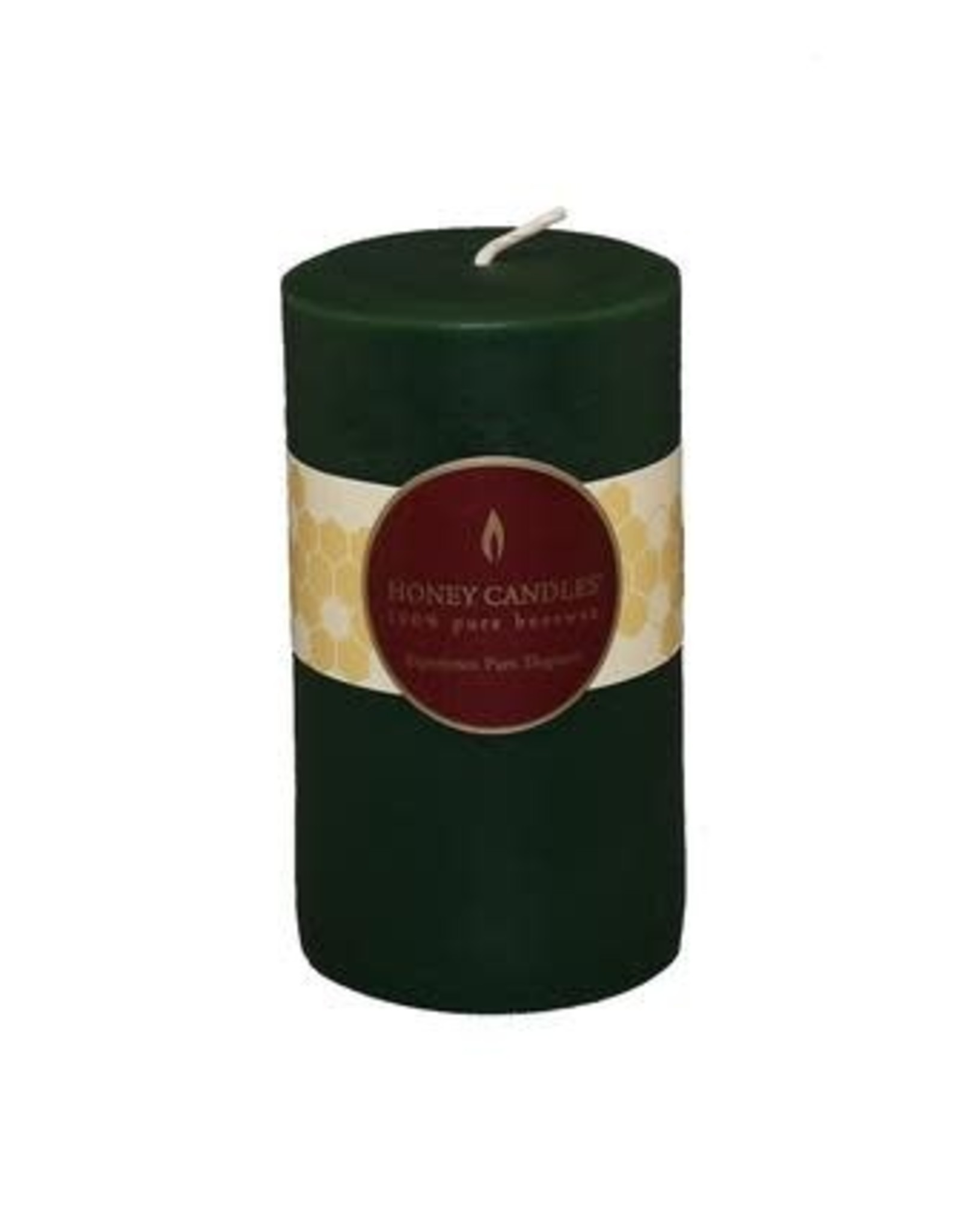 "Honey Candles Honey Candles 5"" Round Pillar- Forest Green"