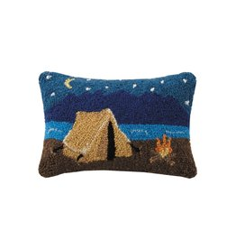 Wool Hooked Pillow - Camping (Small)