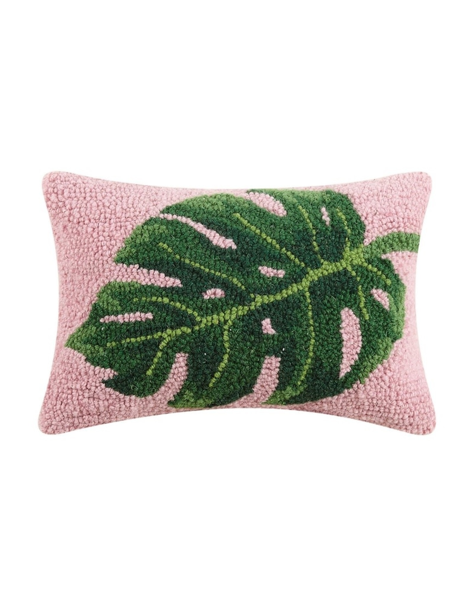 Wool Hooked Pillow - Monstera