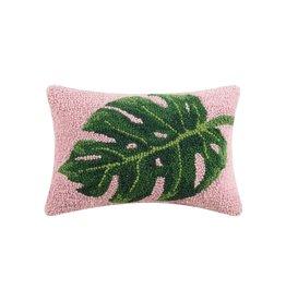 Wool Hooked Pillow - Monstera (Small)