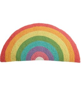Wool Hooked Pillow - Rainbow Shape