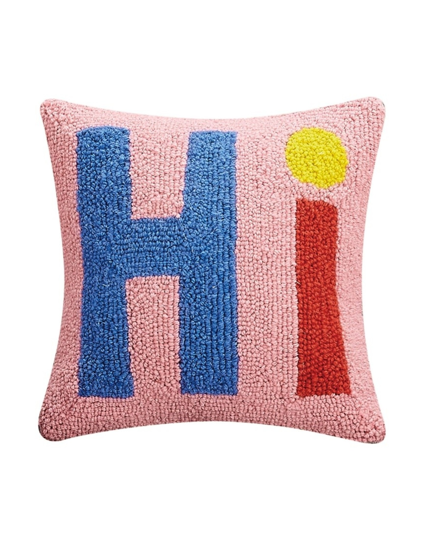 Wool Hooked Pillow - Hi (Square)