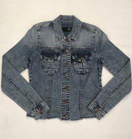 Kara Fray Jacket with fray hem