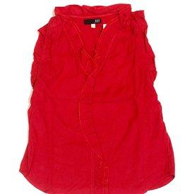 Kennedy sleeveless ruffle blouse