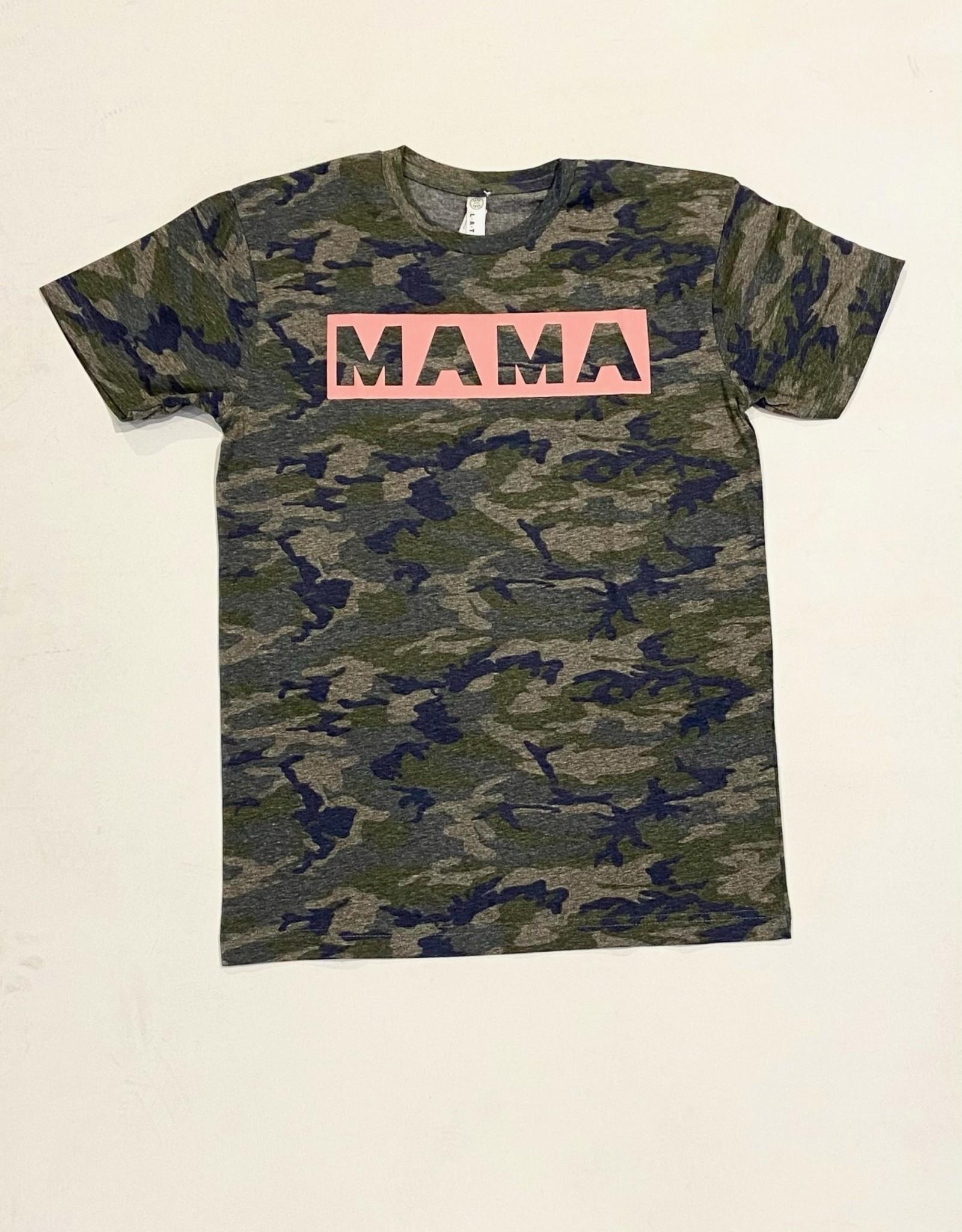 inked up apparel mama camo graphic tee