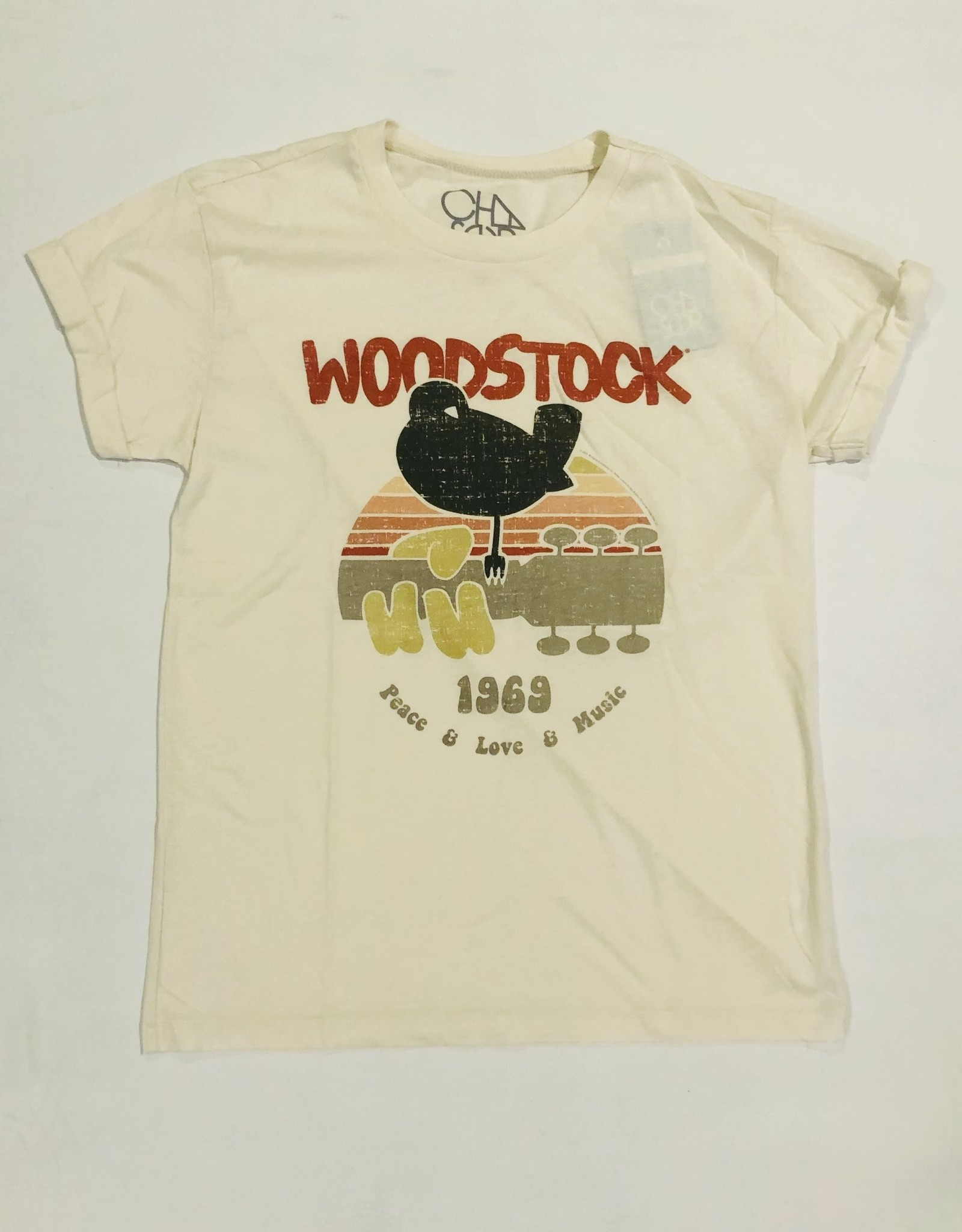 recycled vint. rolled crew tee CW8478