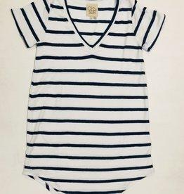 terry cloth vneck shirttail mini dress