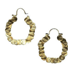 Lingua Nigra 100 circles hoop earrings