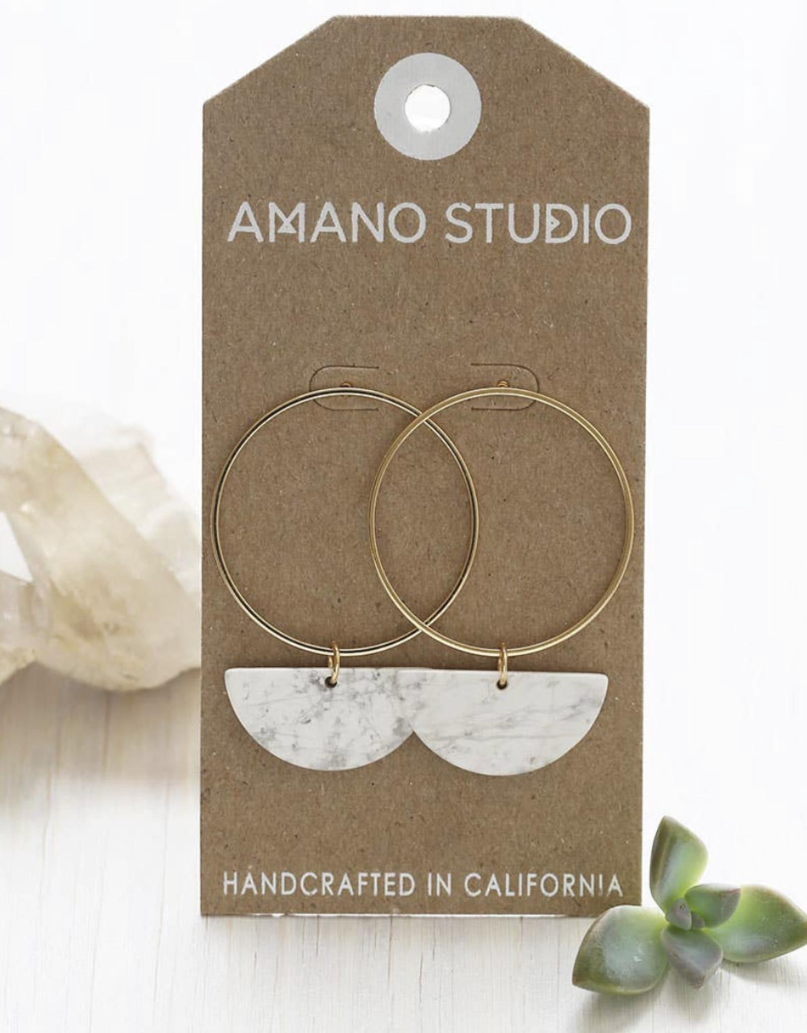 Sun & moon stud earrings  22SM