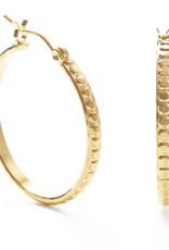beaded gold hoop