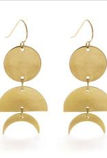 Amano Celestial geometry earrings gold 21CG