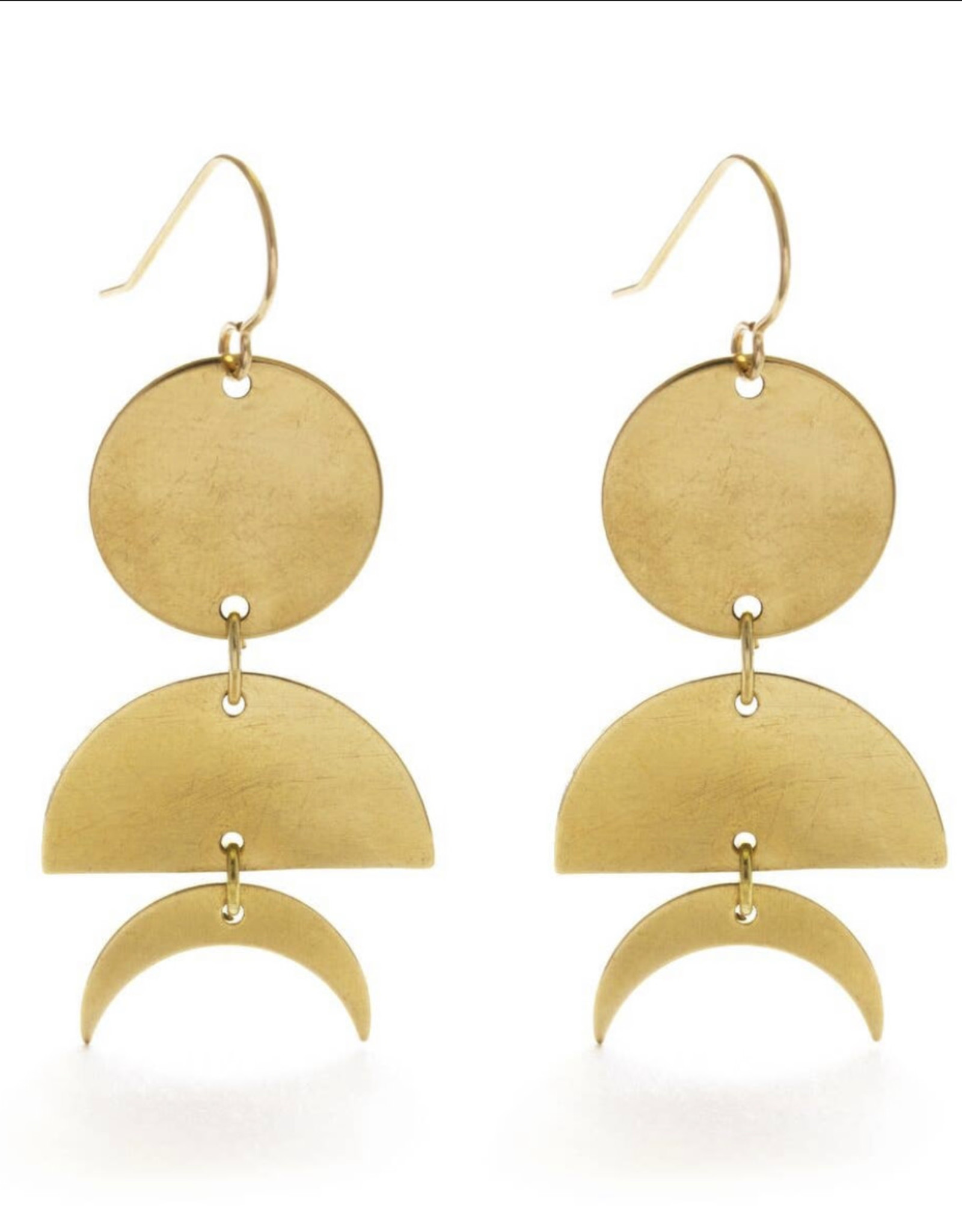 Celestial geometry earrings gold 21CG