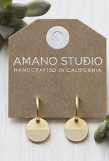 color horizon earrings in beige