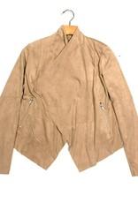 Abigail faux sued drape jacket KJ46601