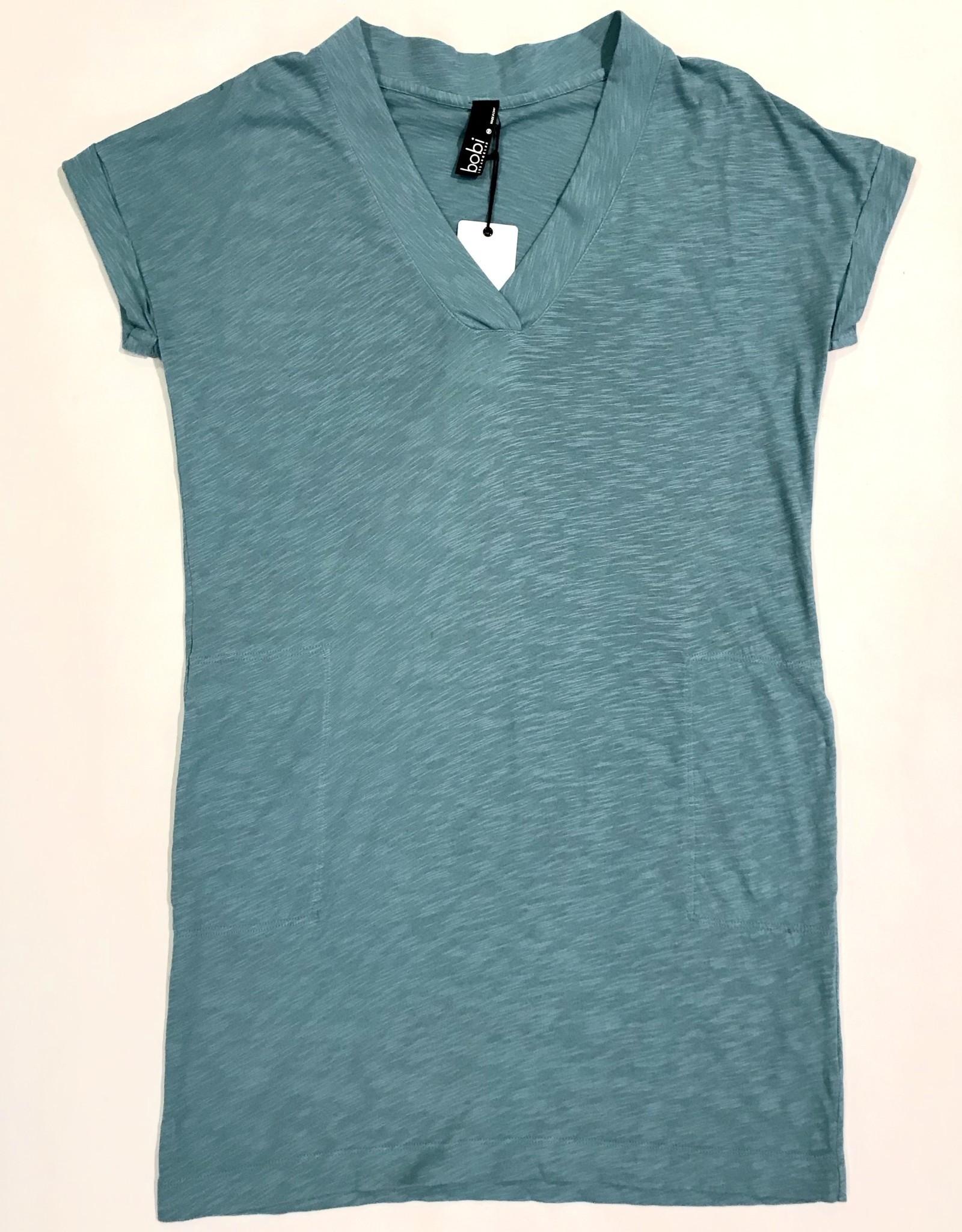 Short sleeve dolman V-neck dress B-26145