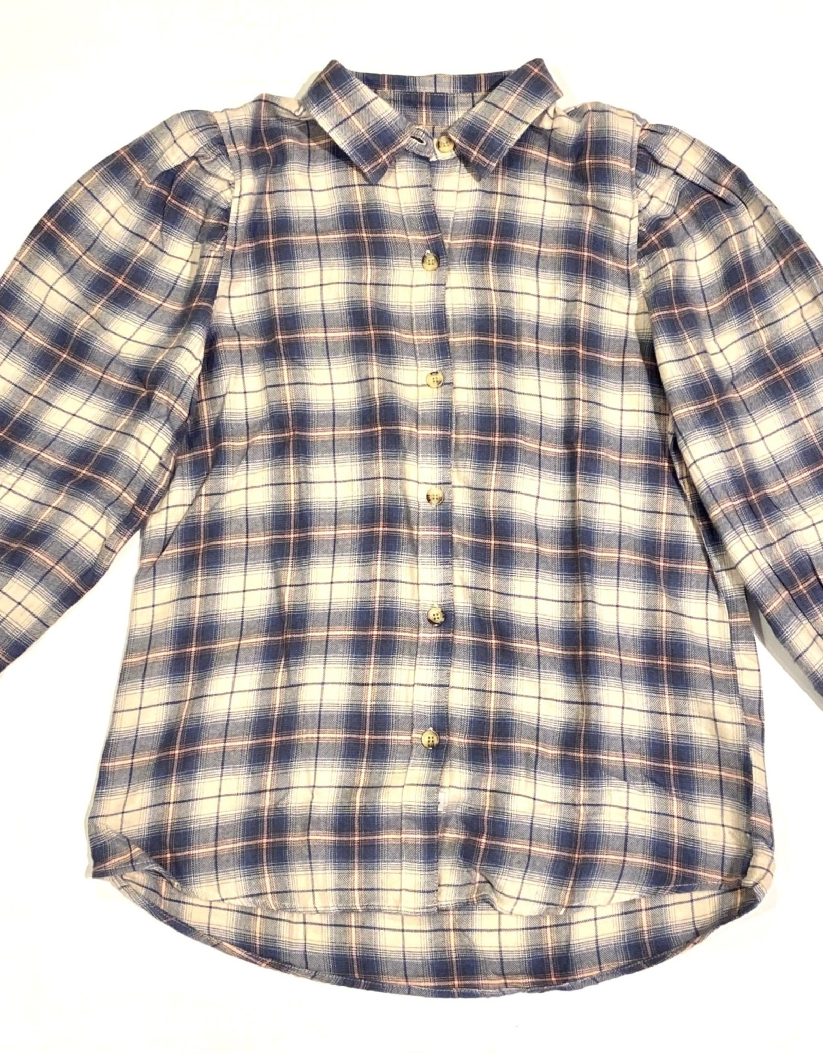 Angelica plaid top
