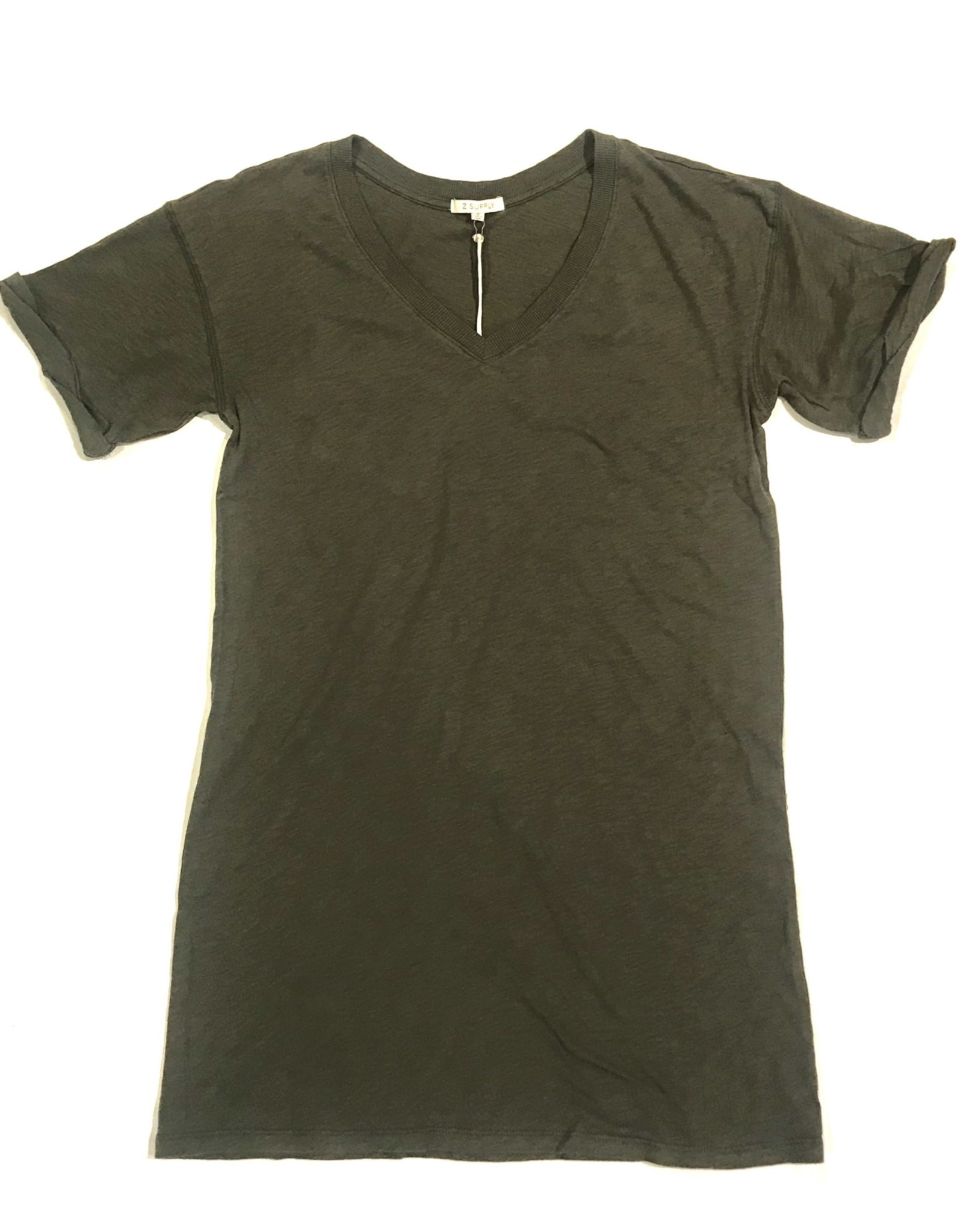 ZS VNeck T-Shirt Dress-ZD202359