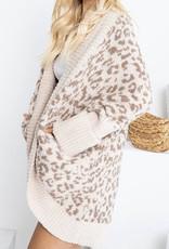 sweet lovely by Jen SW Leopard slouchy cardi SW209