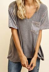 ces femme CF sequin pocket t-shirt TAT439