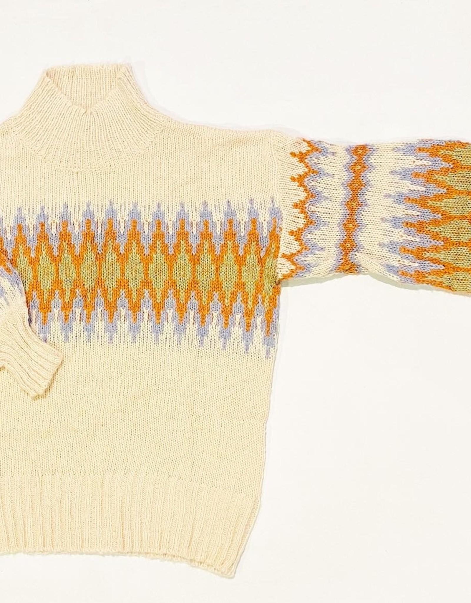 Lush aztec print tneck sweater lt14761