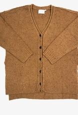 Lush waffle rawedge sweater LT16121