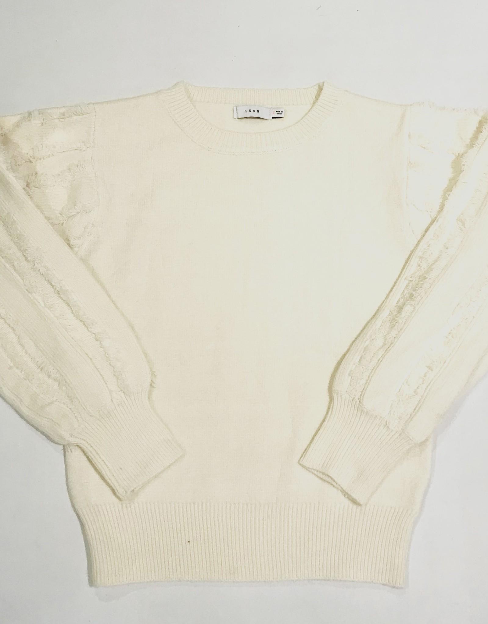lush long sleeve sweater w/wisps LT16169