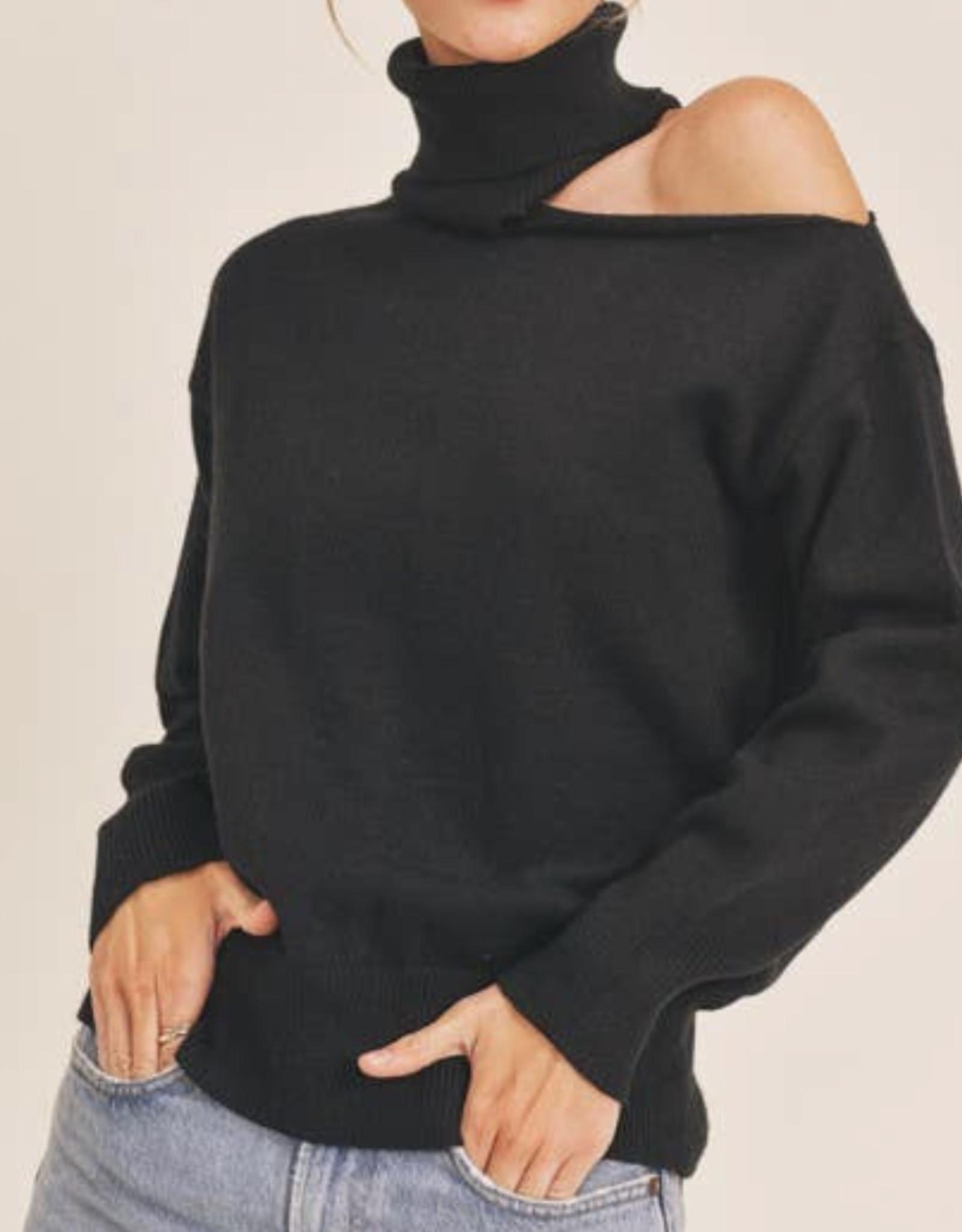 lush L/S sweater with peekaboo LT15915