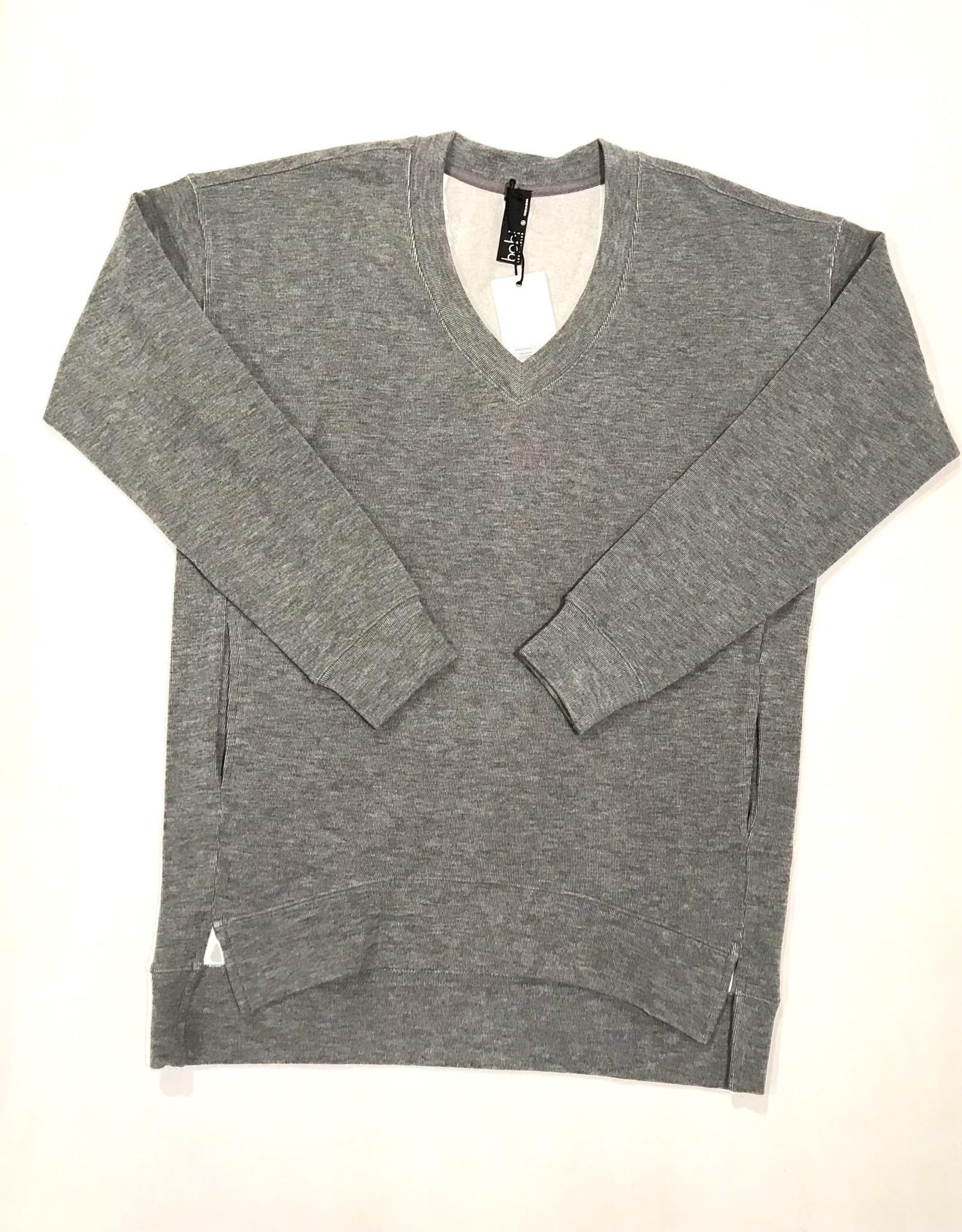 bobi v-neck pocket sweater 54B-64615