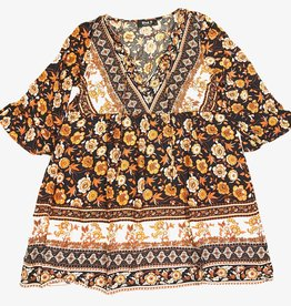 Blue B BB floral mini ruffle dress 31012D