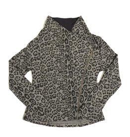 Blue B BB animal print faux suede zip  jacket 51122