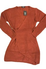 Blue B BB sweater tie front dress 51325