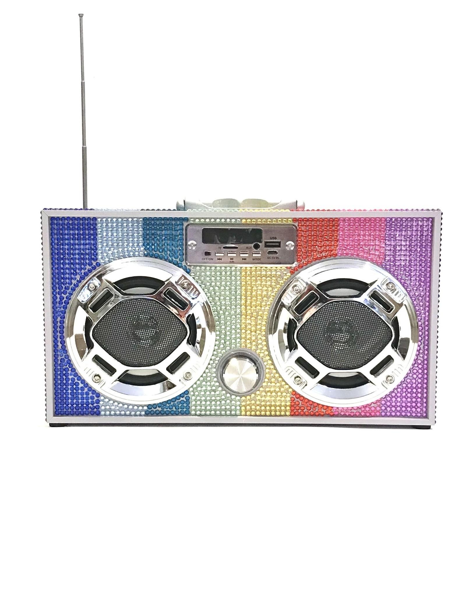 Trend Tech Brands TT Rainbow Bling Boombox WE-BB