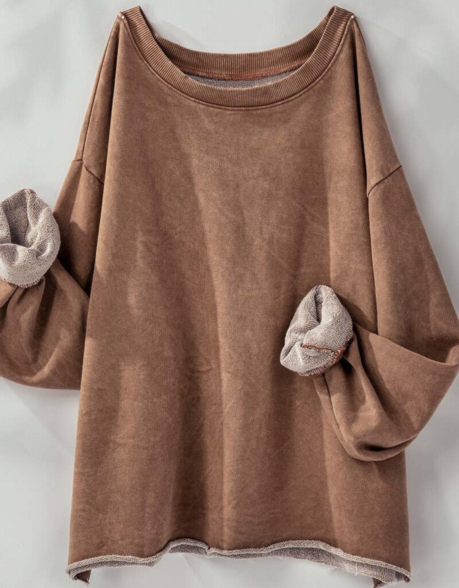 Urban Daizy UD Washed Fr.Terry Crop Sweatshirt UDLVT74000