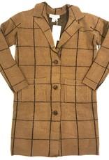 SL windowpane  sweater coat S1937