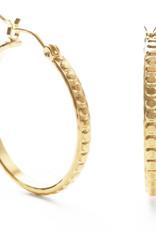 Amano Beaded Gold Hoops 23BH