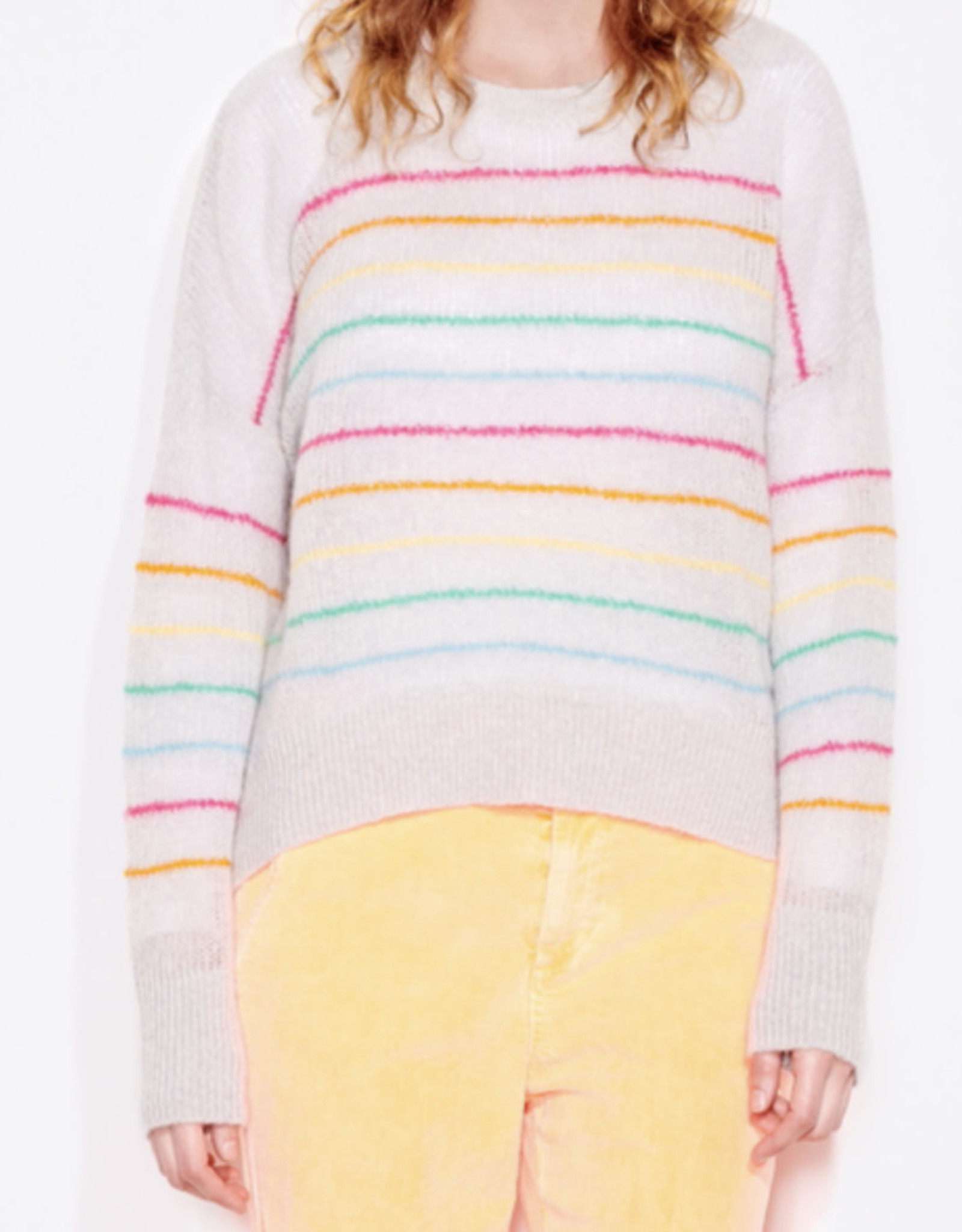 Sundry Rainbow stripes sweater F21-4J-D50E20