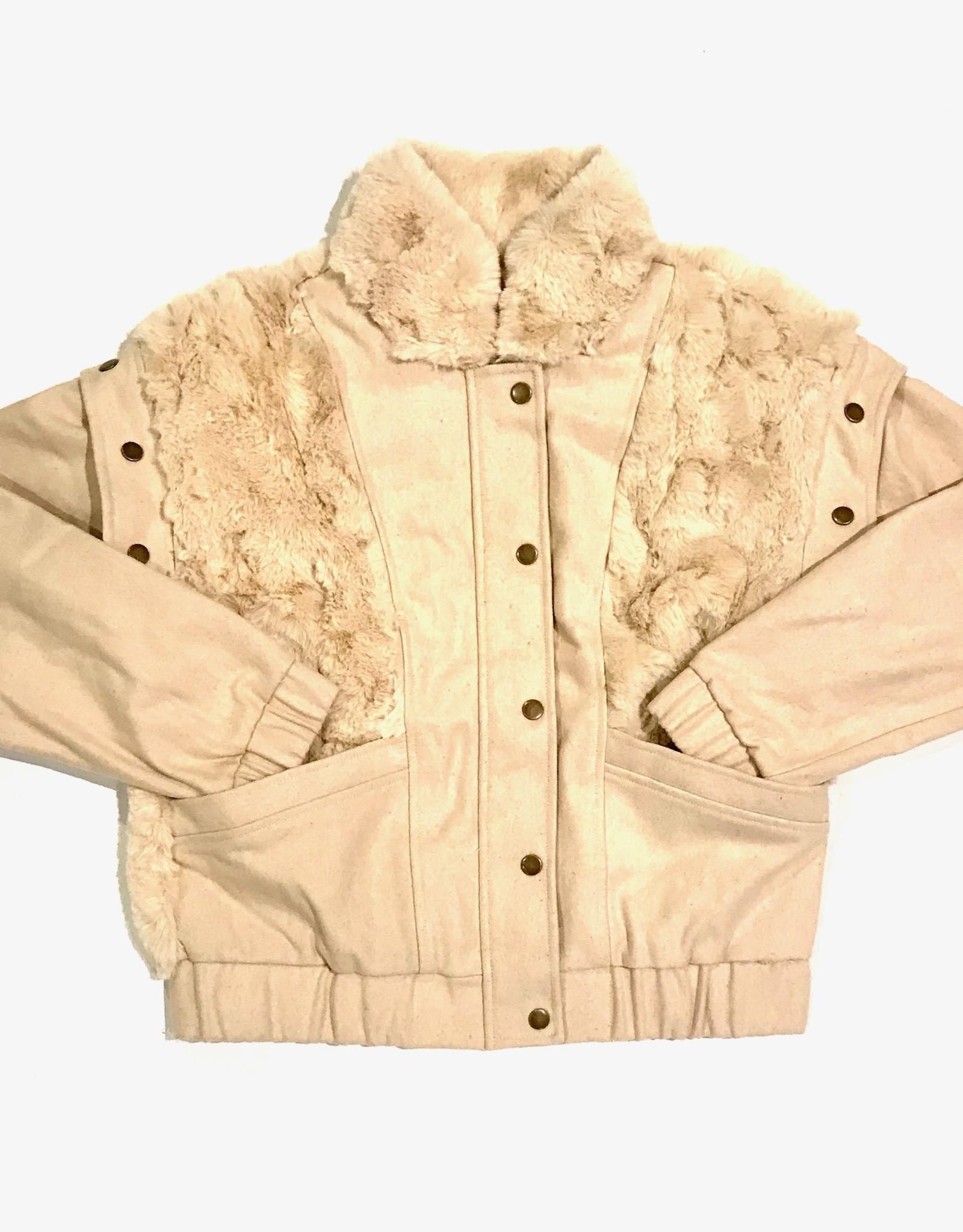 SL fur trim vest/jacket S1451