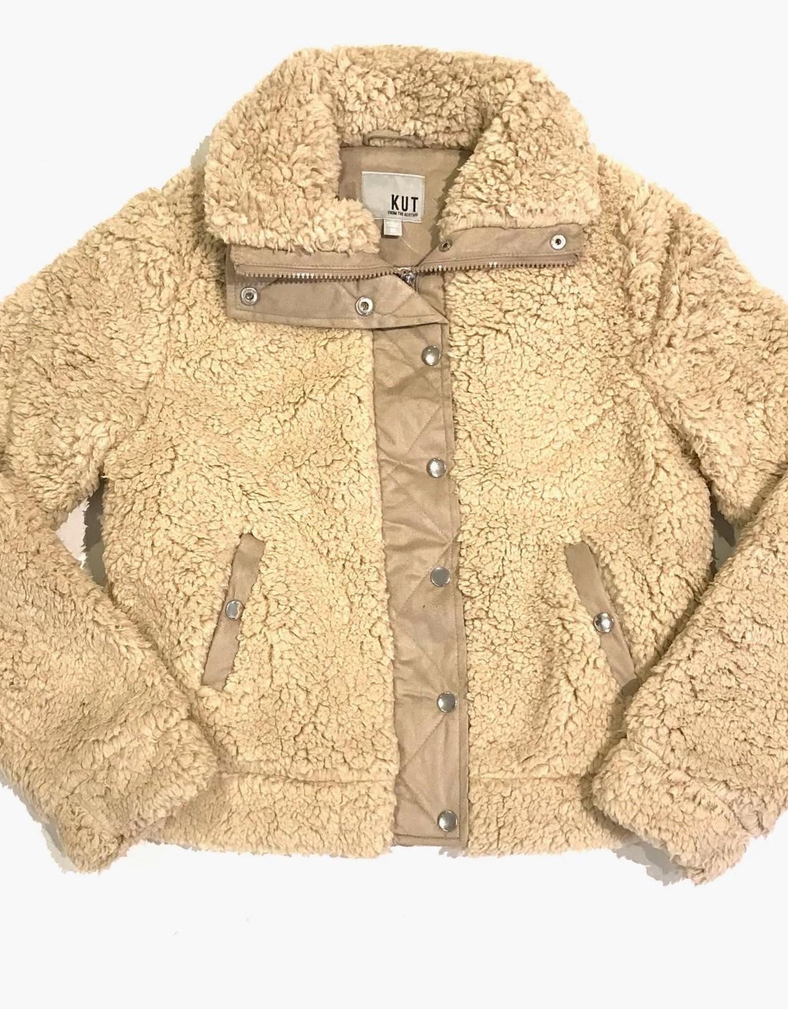 Kut Zip front fuzzy jacket KJ46301