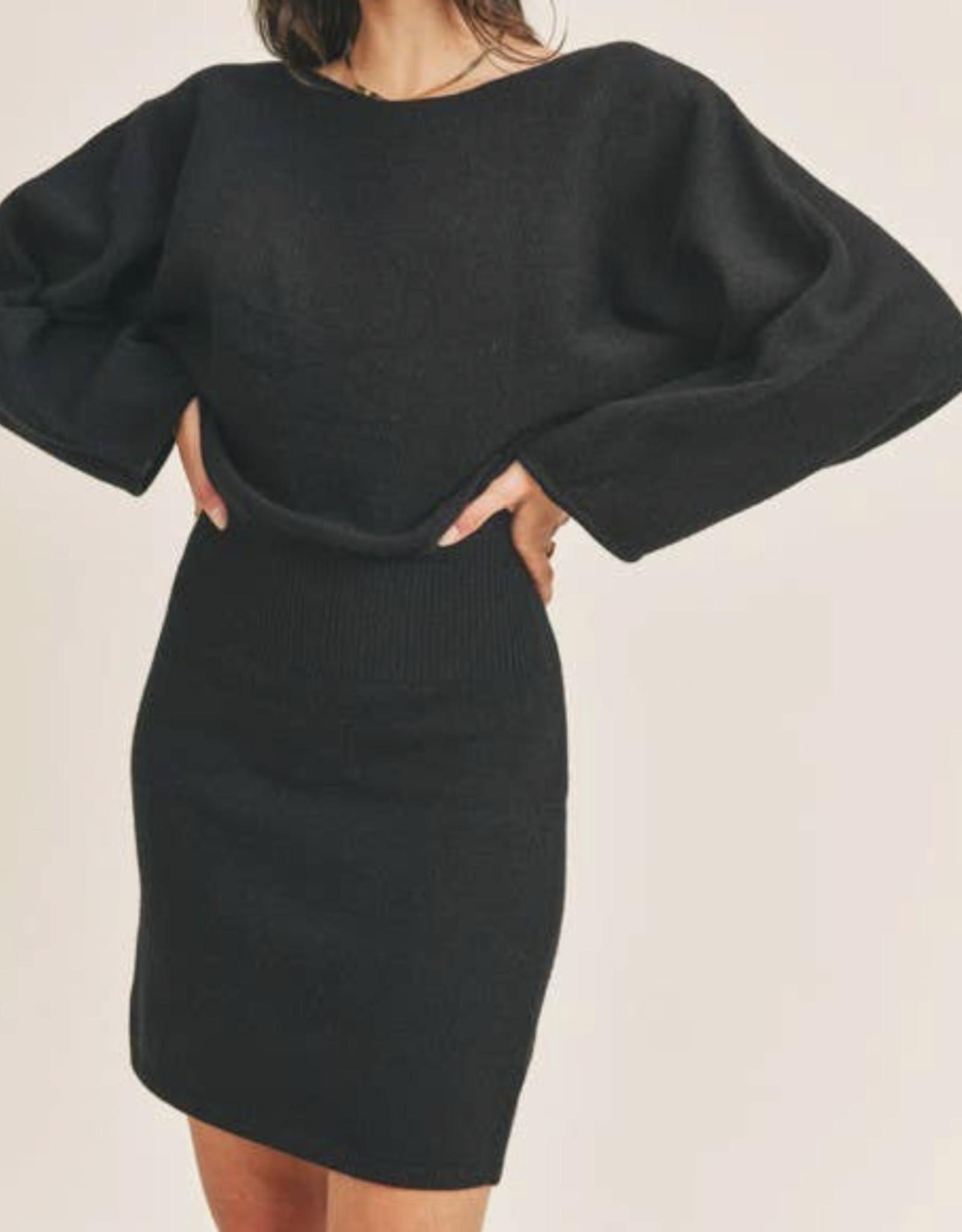 Lush Knit wide sleeve dress LD44059