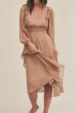 Lush Polka dot ruffle dress LD44142